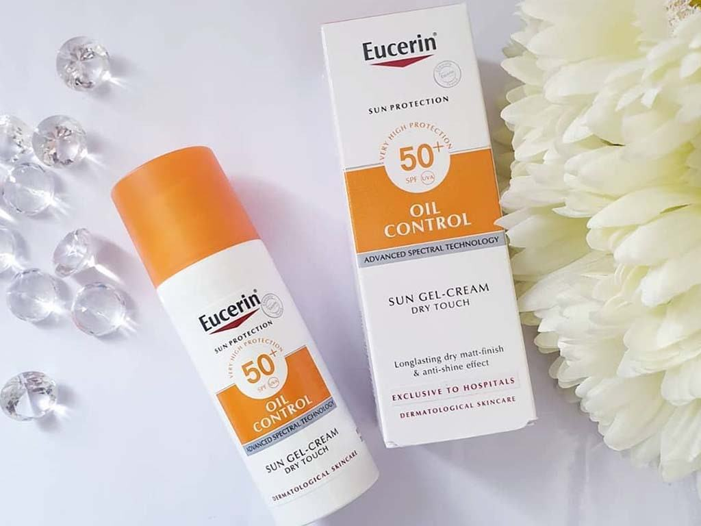 Kem Chống Nắng Eucerin Sun Gel-Creme Oil Control Dry Touch SPF 50