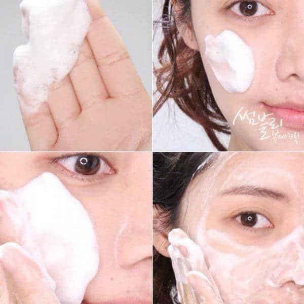 Các bước sử dụng Sữa Rửa Mặt Mamonde Micro Deep Cleansing Foam chuẩn